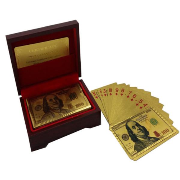 Луксозни позлатени карти за игра със сертификат
