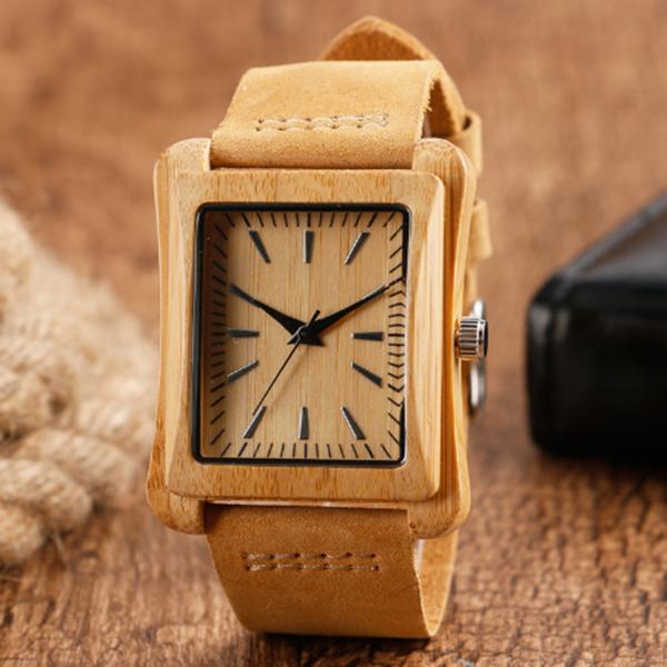 Дървен часовник с японски механизъм